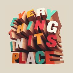 Wood typography #wood