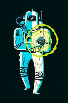 Ye Crooked Legge: Death Ray #illustration #sci-fi #character #space