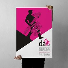 projectgraphics - typo/graphic posters #kosovo #2009 #festival #prishtina #projectgraphics #poster #dam