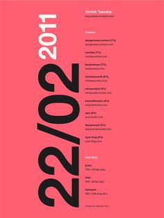 Tumblr Tuesday Poster 07 #inspiration #creative #tumblr #date #design #graphic #grid #system #blog #poster #typography