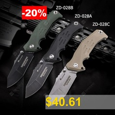 HX #OUTDOORS #ZD-028 #9CR14MOV #Blade #Folding #Knife #Outdoor #Camping #Travel #with #Multi-function #knife