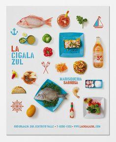 savvy studio: la cigala zul branding #color #poster