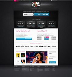 Songflow #music #theme #wordpress #webdesign