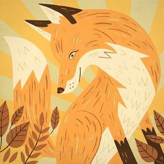 Fox & Bird - Owen Davey Illustration #illustration
