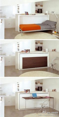 Space Saving Murphy Bed #bed #small spaces