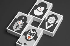 Re Vision postales por Forma Estudio de Diseño KISS #minimalistic #icons #music #postcard #kiss