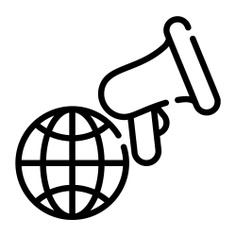 See more icon inspiration related to announce, promotion, announcer, announcement, globe grid, shout, bullhorn, loudspeaker, electronics, megaphone, communications, marketing and earth on Flaticon.