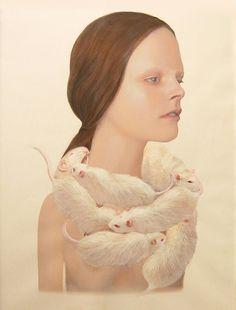 f53d2ed55914a2111c3d13efebfbd0a2.jpg (JPEG Image, 600×789 pixels) #woman #merve #mokroc #rat #painting #art #lakormis #animal