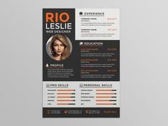 Free Creative Modern Resume Template with Stylish Design