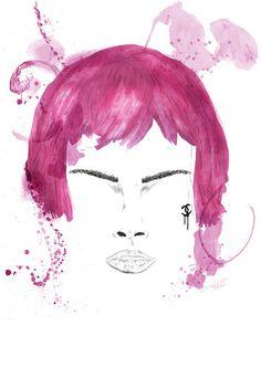 Chanel resort 2013 by Mateusz Suda #karl #project #pink #illustrator #design #cry #illustrations #chanel #art #poland #logo #drawing