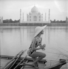 Norman Parkinson - The Taj Mahal seen across the swirling Jumna River.jpg - Photos - Photohab - Photographer's Portfolios #fashion #photography #inspiration