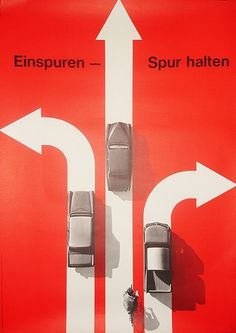 Einspuren – Spur Halten | Flickr - Photo Sharing! #poster #hans hartmann #swiss