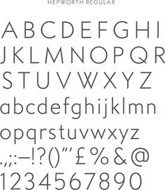 Creative Review - APFEL's identity for The Hepworth Wakefield #font #typography