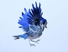 paper bird sculptures by diana beltran herrera #paper #bird