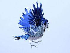 paper bird sculptures by diana beltran herrera #bird #paper
