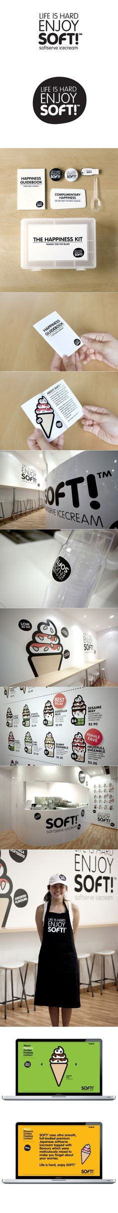 SoftTM branding by Bravo Company #branding #ice cream #retail