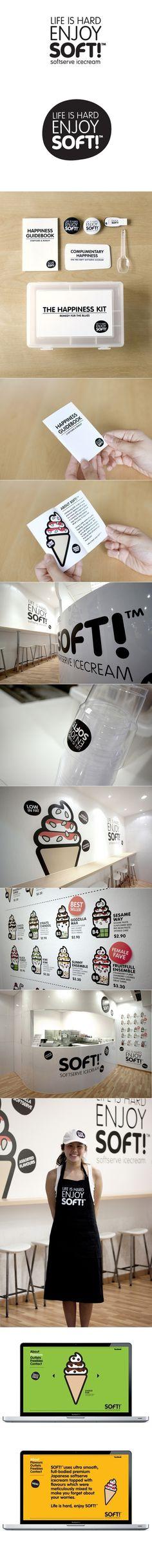 SoftTM branding by Bravo Company #cream #ice #branding #retail