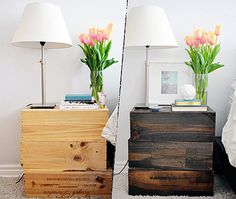DIY Nightstand #interior #nightstand #design #bedroom
