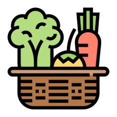See more icon inspiration related to basket, salad, food, vegan, vegetarian, wicker, vegetable garden, food and restaurant, farming and gardening, ecology and environment, organic, healthy food and vegetables on Flaticon.