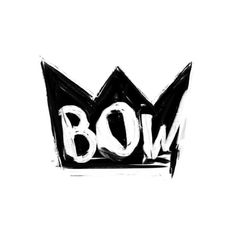 Bow Art Print #blackwhite #design #flocka #illustration #art #type #waka #typography