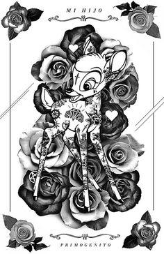 bambi white   Flickr - Photo Sharing! #illustration #poster