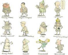 Moleskine Sketches by Mattias Adolfsson | Best Bookmarks #characters #moleskine #sketch