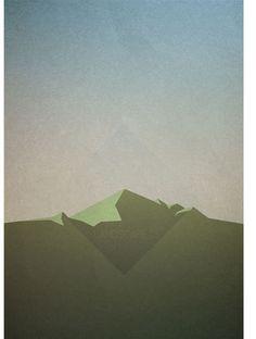 Landscape #illustration #poster #vector #landscape #paper
