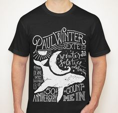 Paul Winter Sextet Winter Solstice T-Shirt #illustration #lettering #typography
