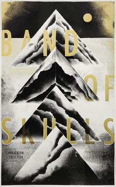 BAND OF SKULLS tourposter on Behance #print #texture #screen #poster #typography