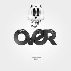 OVER #inspiration #illustration #typography