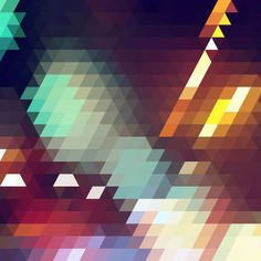 Triangle Pattern Art Print #triangle #pattern