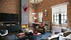 Loft apartment with an interior design made by Paul Vetrov - HomeWorldDesign (7) #loft #apartments #interior design #decor #vintage