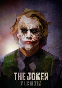 The Joker / Cubismo by Luis Huertas #barman #joker #illustration