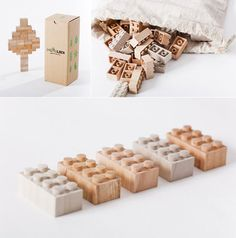 Handmade Wood LEGO Blocks from iichi #wood #toys #bricks #lego