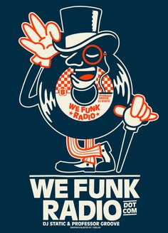 NEW TEE DESIGN FOR WE FUNK RADIO on Behance #123klan