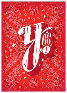 Y #lettering #bandana #daniblik #blik #yes #danielblik #typography