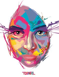 Vector Designs by Angel Rodriguez (Toenio) at Coroflot.com #vector #woman #color #digital #illustration #art #beautiful