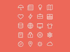 Flat Stroke Line Icons Set Vol2 #icon