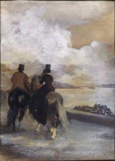 BnF - Dessins de la Renaissance #horse #france #edgar #painter #paint #1860 #degas #lake