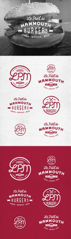 LPM burgers on Behance #meat #badge