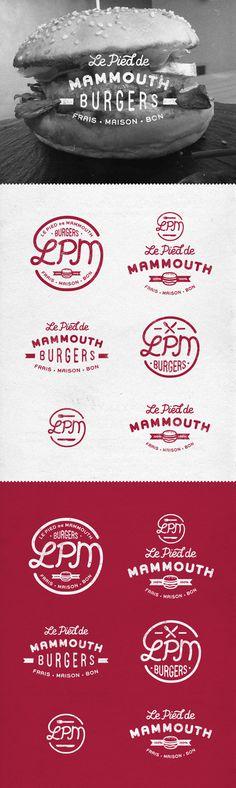 LPM burgers on Behance #meat #badge