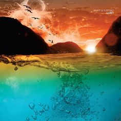 Gabet album artwork on the Behance Network #sun #mountain #water #seagull #surface #sea #sunset