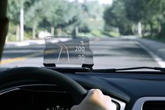 Keep your eyes on the road at all times with HUDWAY Glass, a head-up display screen that beams your smartphone screen. #productdesign #indus