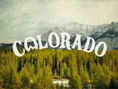 Dribbble - Colorado by Joe Horacek #colorado #typography