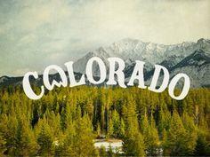 Dribbble - Colorado by Joe Horacek #colorado #typography
