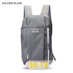 SOLDIER #BLADE #Outdoor #Water #Resistant #Light #Weight #Backpack #- #LIGHT #GREY