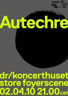 Autechre - artFREQ. - Presents Radical High Culture #music #poster #typography