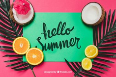 Tropical summer theme Free Psd. See more inspiration related to Flower, Mockup, Floral, Party, Summer, Paper, Beach, Sun, Leaves, Fruits, Tropical, Holiday, Mock up, Coconut, Lemon, Palm, Decorative, Vacation, Summer beach, Summer party, Aloha, Up, Beach party, Tropical flowers, Season, Theme, Hawaiian, Palm leaves, Composition, Mock, Exotic, Summertime and Seasonal on Freepik.