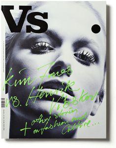 Vs #lettering #cover #drawn #hand #magazine
