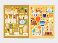 Illustrations for the Turkish Ministry of Culture and tourism #turkey #design #illustrations #art